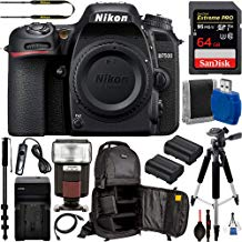 """$849 Get Nikon D7500 DSLR Camera (Body Only #1581) with 15pc Deluxe-Bundle: Includes – SanDisk 64gb Extreme Pro Memory Card, 57"""" Professional Tripod, 72"""" Monopod, Sling Backpack for DSLR Camera, and More"""