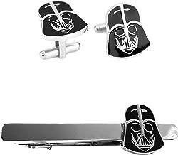 Outlander Darth Vader Cufflink & Darth Vader Tiebar - New 2018 Star Wars Movies - Set of 2 Wedding Logo w/Gift Box