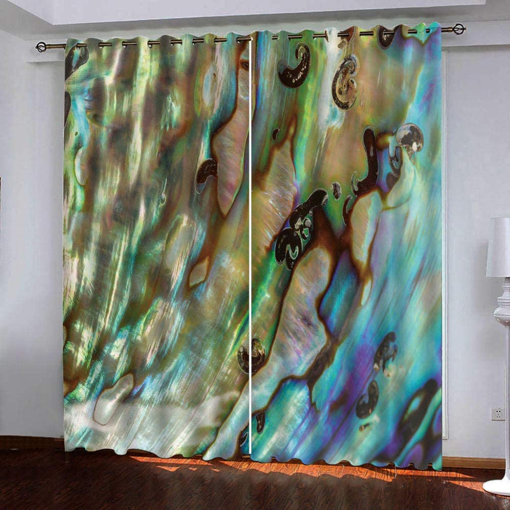 Blackout Fashionable Curtains,Abstract Pattern Shades Thermal Insulated Ranking TOP20