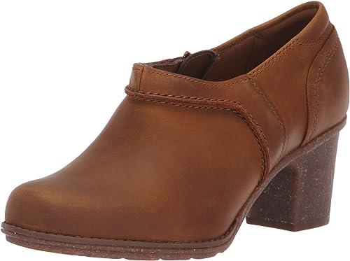 CLARKS Woherren Sashlin Aleta Fashion Stiefel, Dark tan Leather, 085 M US