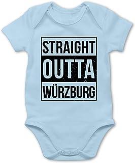 Bazi Shirts - Franken Babys - Straight Outta Würzburg schwarz - Baby Body Strampler