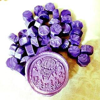 100 35g Feuerlackversiegelung Deep Purple Feuerfarbe Siegelwachs kleiner Beutel achteckiges Feuerlackwachs Siegelwachs 30 Farbe ca