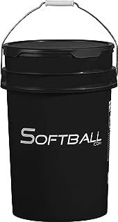 Softball Softball.com Empty Bucket with Padded Lid Black