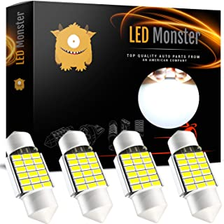 LED Monster Extremely Bright 400 Lumens 3020 Chipset Canbus Error Free LED Bulbs for Interior Car Lights License Plate Dome Map Door Courtesy 1.25Ó 31MM Festoon DE3175 6428 Xenon White
