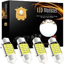 LED Monster Extremely Bright 400 Lumens 3020 Chipset Canbus Error Free LED Bulbs for Interior Car Lights License Plate Dome Map Door Courtesy 1.25Ó 31MM Festoon DE3175 6428 Xenon White