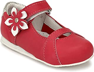 Tuskey Kids Genuine Leather Shoes Antislip Antiskid Casual Ballarina Shoes for Girls