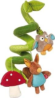 Mushroom Brown mit Zappy dem Eichh/örnchen 31 x 22 cm Hellbraun ab Geburt Sebra Aktivit/ätsspirale Woodland