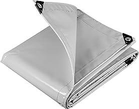 WOLTU GZ1208m02 Dekzeil bescherming PVC zeildoek 500 g/m²,Afdekzeil waterbestendig,UV-bestendig en zon bescherming,3x4m Li...