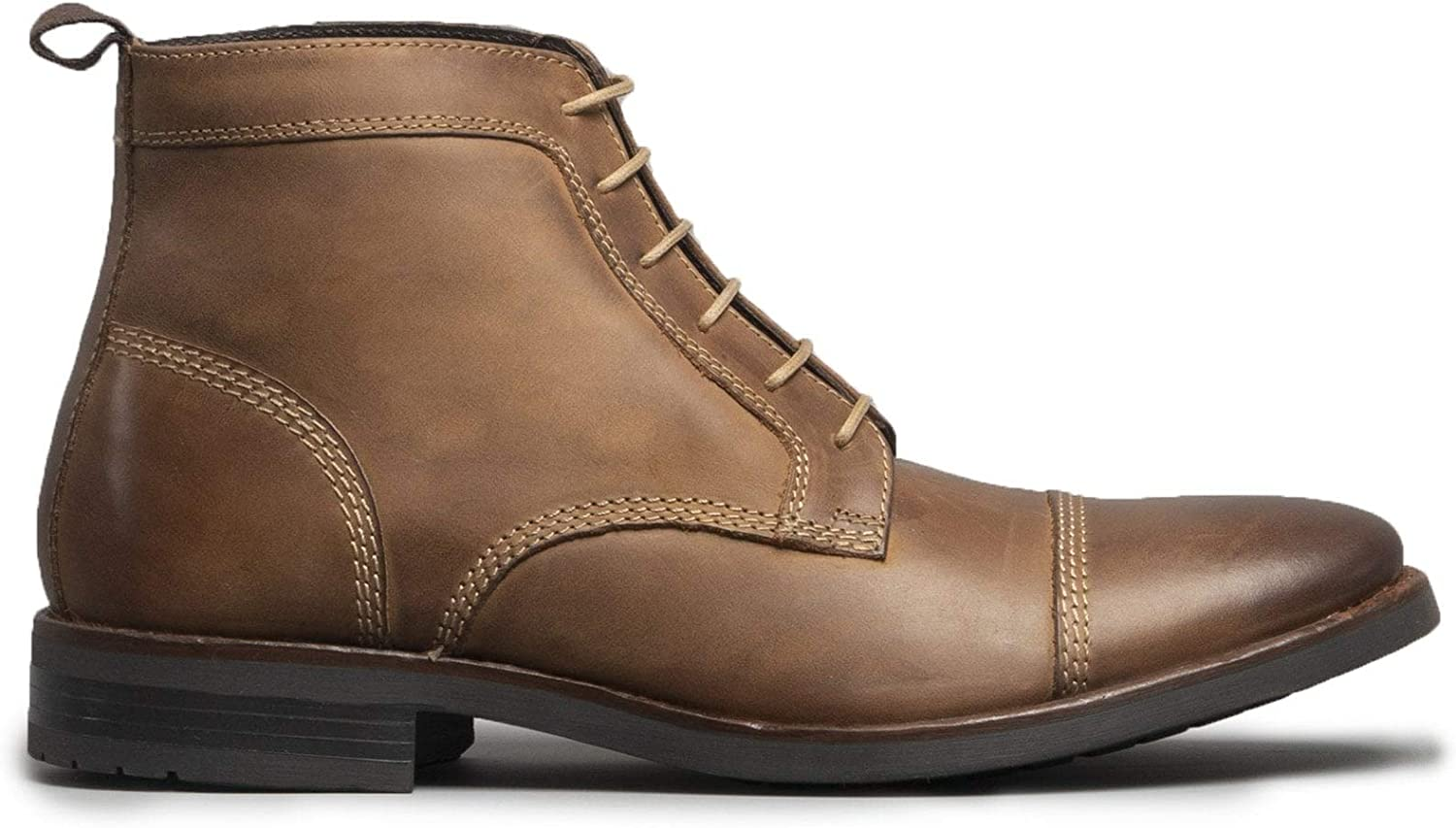 Ikon Marlow Mens Leather Derby Boots Tan