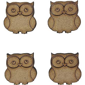 Wooden MDF Bird Animal Owl Shapes Bunting Craft Cartoon Embellishment Decoration