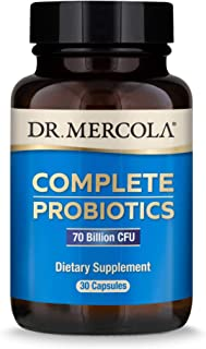 Dr. Mercola, Complete Probiotics (70 Billion CFU) 30 Servings (30 Capsules), Helps Support Digestive Health, Non GMO, Soy ...