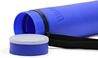 Nozlen Document Poster Tube - Blue Plastic Storage Tube Expands from 24.5