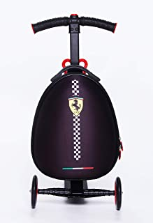 Ferrari Kids Scooter Luggage, Black