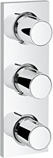 Grohtherm F 3-Handle Triple Volume Control Trim with Round Handles