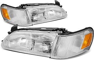 For Corolla Pair Chrome Housing Amber Corner Headlight/Headlamps
