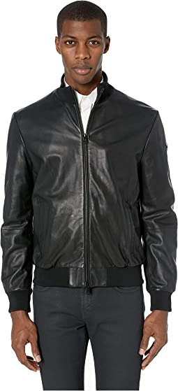 Leather Baseball Bomber Jacket
