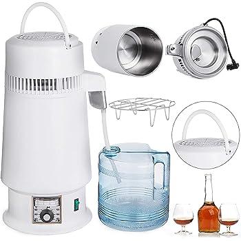 DCHOUSE destilador de agua de 4 l, destilador de agua de 750 W ...