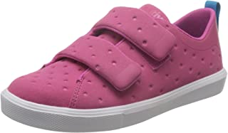 Native Kids Girls' Monaco Velcro Junior Sneaker, Hwdpnk/Shlw
