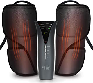 FIT KING Leg Massager for Circulation Calf Massager with Heat 3 Modes 3 Intensities