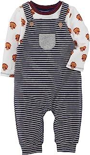 Mud Pie baby-boys Thanksgiving Overall Shirt Set