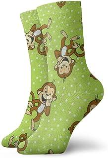 Wheatleya, Poliéster Verde Calcetines de mono listos Calcetín Cálido Bota duradera Calcetines divertidos de invierno