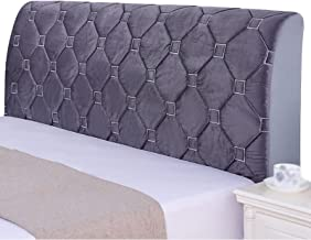 Bed Headboard Cover Protector Slipcover for Bed Headboard Dustproof Solid Bed Headboards Cover (Color : Grey, Size : 230x6...