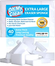 (40 Pack) Extra Large Magic Cleaning Eraser Sponge - 2X Thick