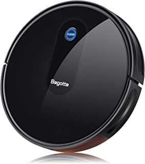 Robot Vacuum, Bagotte BG600 Robotic Vacuum Cleaner 1400Pa High Suction, Super-Thin, Self-Charging, Quiet, Automatic Vacuum Cleaner Robot for Pet Hair, Carpet, Hardwood Floors