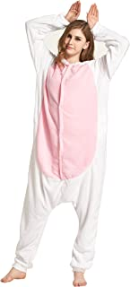 7ceb2a7aebf9 Fandecie Animal Costume Animal Traje Pijamas Pijamas Jumpsuit Conejo Mujer  Hombre Cosplay Adulto para Carnaval Animal