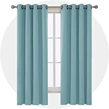 Deconovo Blackout Drapes Thermal Inshualted Room Darkening Shades Grommet Curtains for Office 52W x 84L Inch Teal 1 Pair