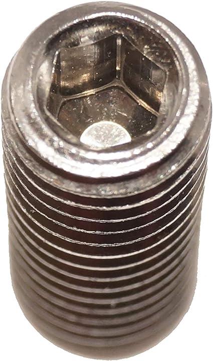 Gewindestifte M3x5 mit Innensechskant und Kegelkuppe 25 St/ück Madenschrauben ISO 4026 A2 Edelstahl