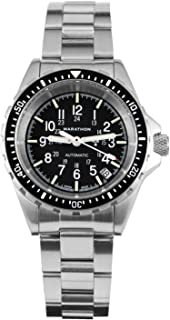 Watch WW194026 Swiss Made Military Diver's Automatic Medium Size Watch with Tritium (36mm) - Rubber Strap or Stainless Steel Bracelet (US or NGM)