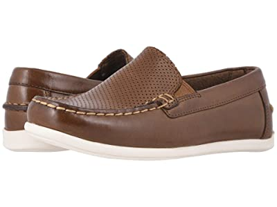 Florsheim Kids Jasper Perf Venetian Jr. (Toddler/Little Kid/Big Kid) (Saddle Tan Smooth Leather) Boys Shoes