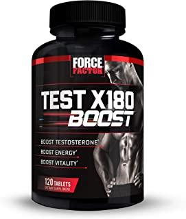 Force Factor Test X180 Boost Testosterone Booster Supplement for Men with Fenugreek, D-Aspartic Acid (DAA), Tribulus, and ...