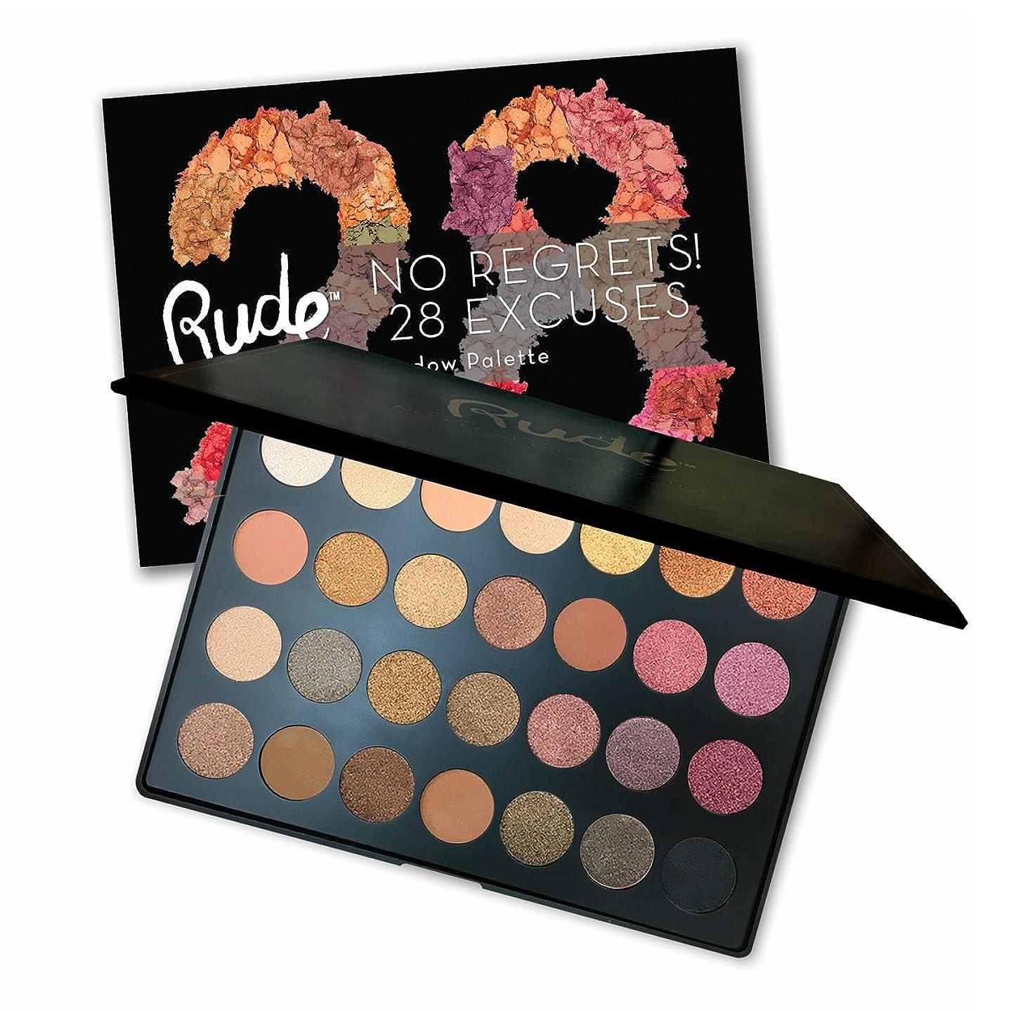 カルシウムブレンド休日に(6 Pack) RUDE No Regrets! 28 Excuses Eyeshadow Palette - Scorpio (並行輸入品)