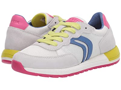 Geox Kids Alben 5 (Little Kid/Big Kid) (White) Girl