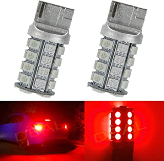 DEAL 2pcs 7443 Super Bright Red DC 12V 30-SMD LED Bulbs For Front Rear Turn Signal/Parking/Driving/Side Marker/Stop/Brake Tail Light Lamp Double Filament