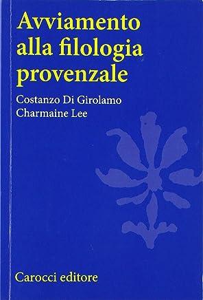 Avviamento alla filologia provenzale