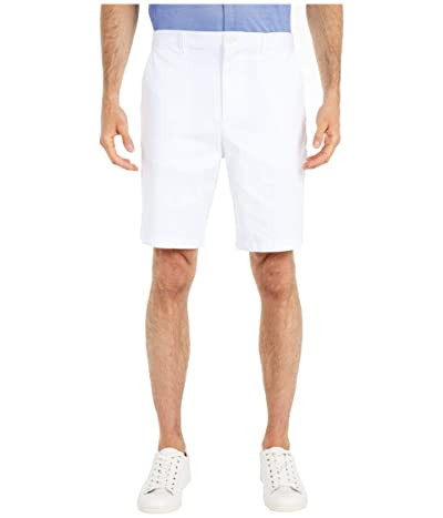 Calvin Klein Refined Stretch Chino Shorts (Brilliant White) Men