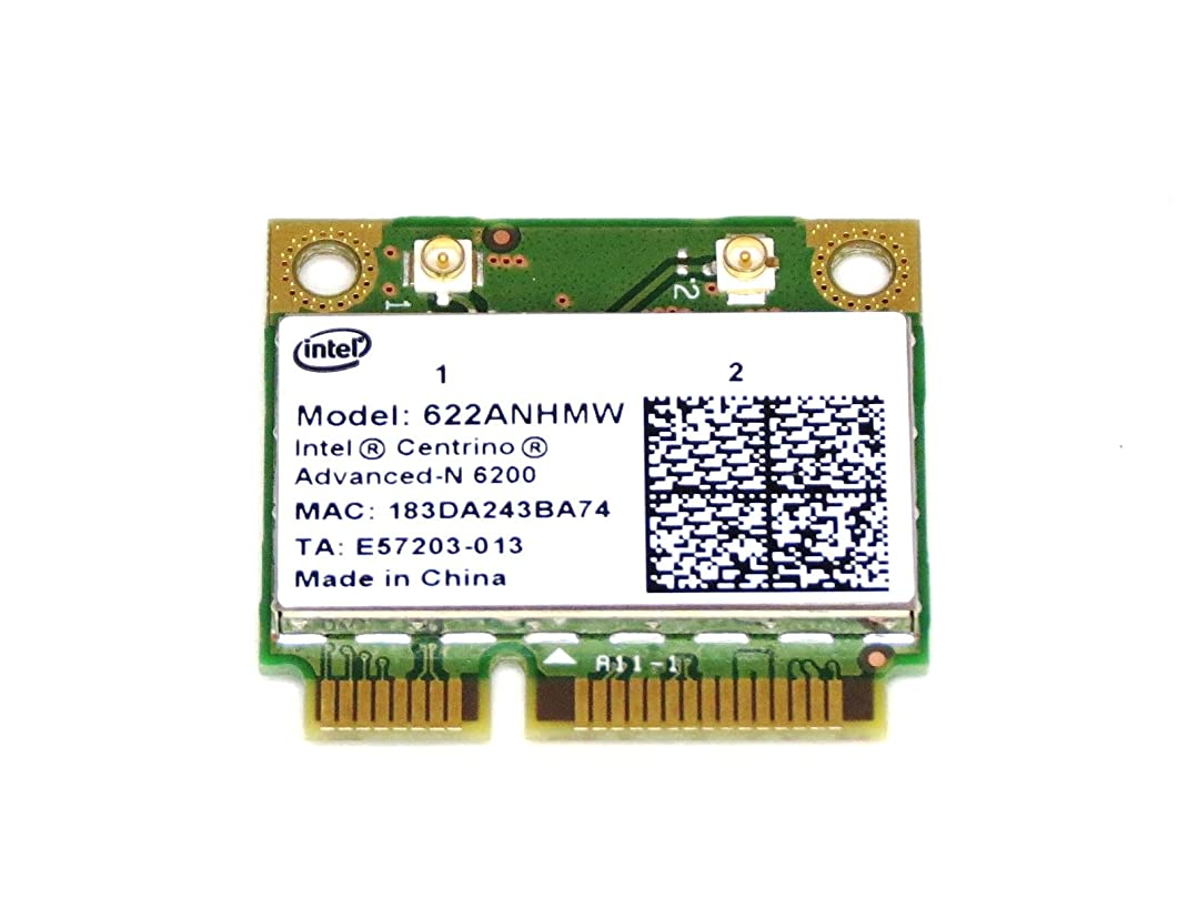 Intel Centrino Advanced-N 6200 802.11a/b/g/n 最大300Mbps (622ANHMW)