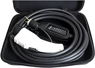 DUOSIDA 25 Ft Level 2 EV Electric Vehicle Portable Car Charger - 16-AMP 120-240V, NEMA 6-20P - Includes Storage Case (White)