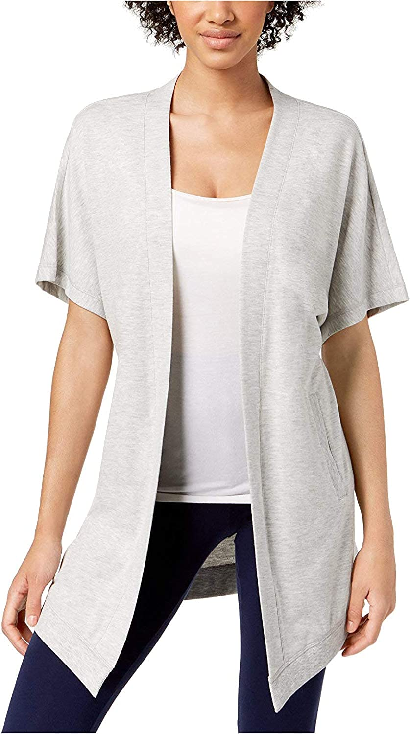 Ideology Womens Heathered OpenFront Cardigan