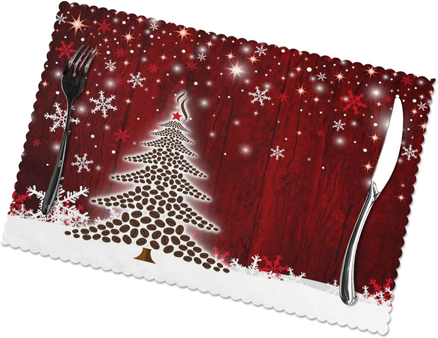 MSGUIDE Happy Ranking TOP7 Christmas Tree Winter 6 Snowflake Placemats Baltimore Mall of Set