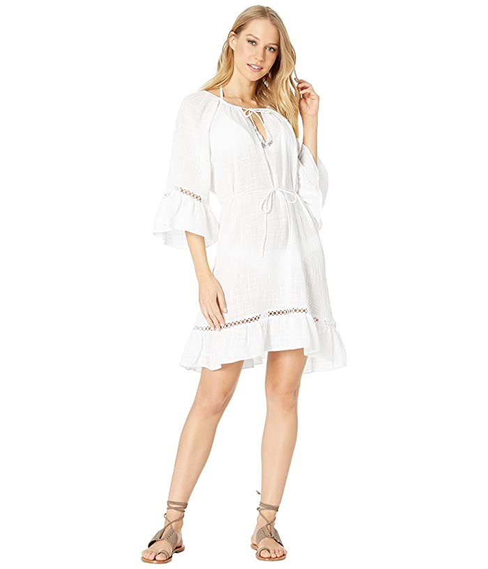 Seafolly Bell Sleeve Cover-Up (White) Women