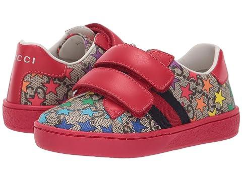 Gucci Kids GG Supreme Double Strap Sneaker (Toddler)