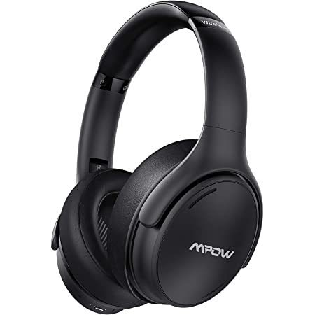 Mpow H19 IPO Active Noise Cancelling Headphones, Wireless Over Ear Bluetooth Headphones with CVC 8.0 Mic,Hi-Fi Deep Bass, Fast Charge, 35H Playtime,Comfortable Fit for Home Office, Travel