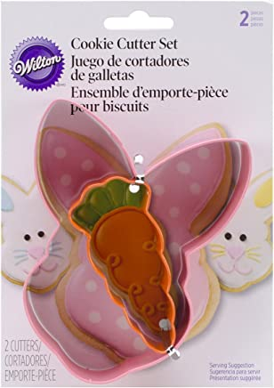 Wilton 2308-1557 Bunny and Carrot Cookie Cutters, Set of 2