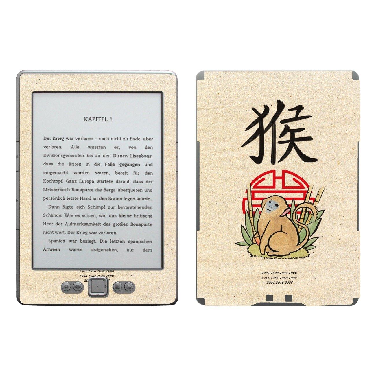 Disagu SF de 103567 _ 877 Diseño Protector de Pantalla para Amazon Kindle 4 eReader Diseño Chin. Horóscopo Mono años Transparente: Amazon.es: Informática