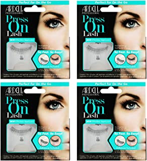 Ardell False Eyelashes Press On Lash with Adhesive Pipette 109 Black 4 pack