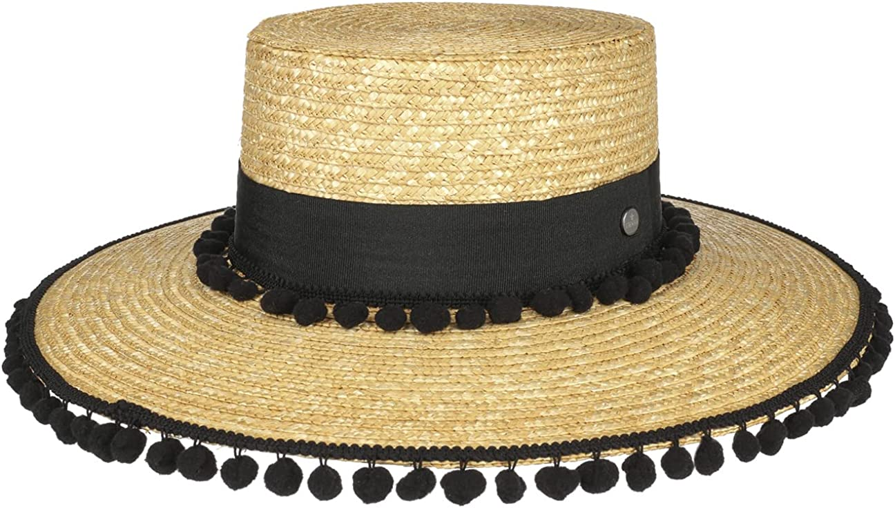 Lierys Valencia Bargain Wheat Straw Hat with Ita - Max 75% OFF in Women Pompoms Made